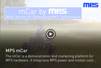 The mCar is a demonstration and marketing platform for MPS hardware
